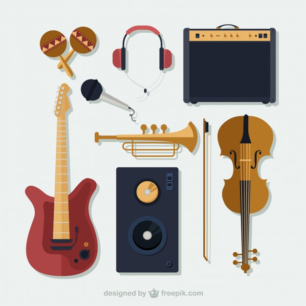 626x626 Collection Of Music Instruments Vector Premium Download