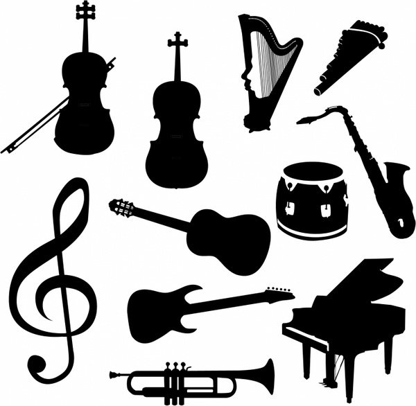 600x586 Vector Music Instruments Free Vector In Adobe Illustrator Ai ( .ai