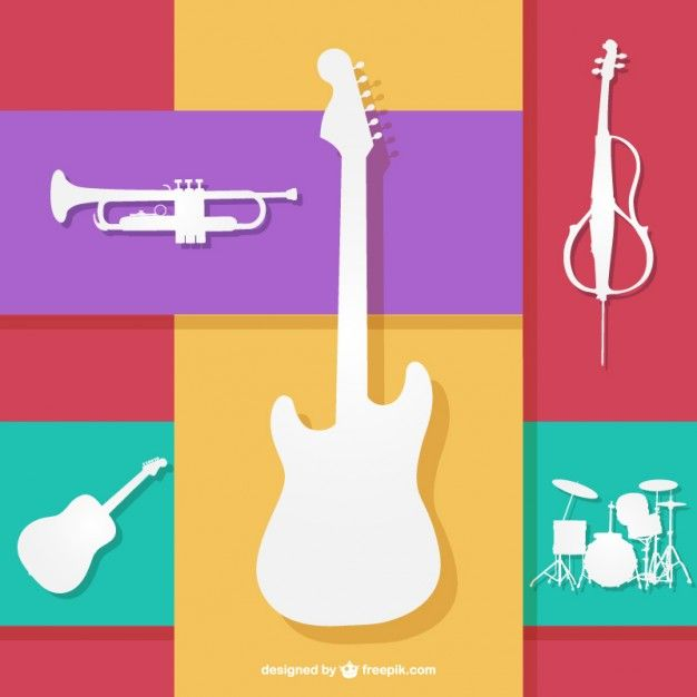 626x626 Colorfull Musical Instruments Vector Art Design Amp Music