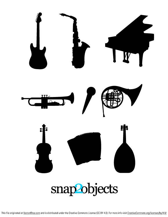 580x747 Free Musical Instruments Silhouettes Psd Files, Vectors Amp Graphics