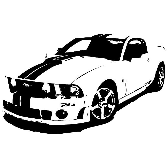 660x660 Ford Mustang Free Vector 123freevectors