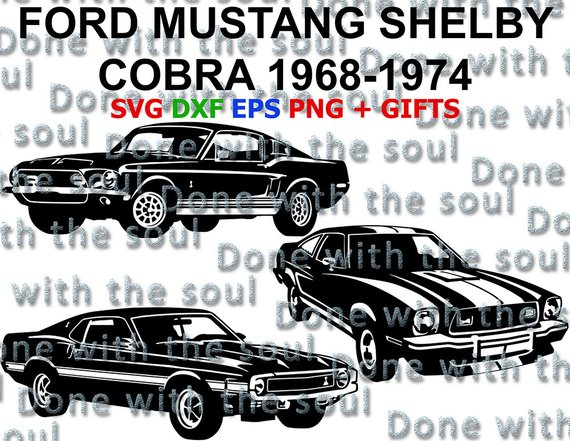 570x441 Ford Mustang Shelby Ford Cobra Shelby Mustang Car Vector Etsy