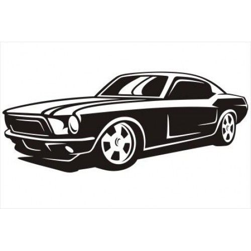 500x500 Imgs For Gt Ford Mustang Car Silhouette Cricut Car