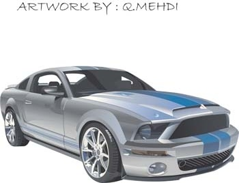 350x268 Mustang Sport Car Vector Free Vector In Adobe Illustrator Ai ( .ai