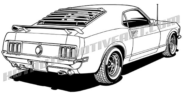 600x315 1970 Ford Mustang Fastback Clip Art, Buy Two Images, Get One Image