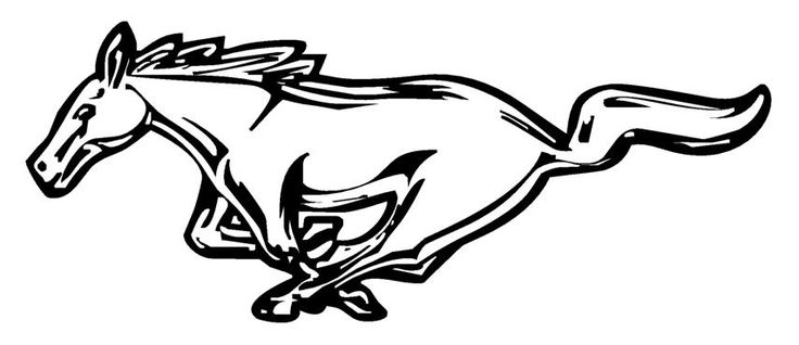 736x318 Ford Mustang Horse Vector