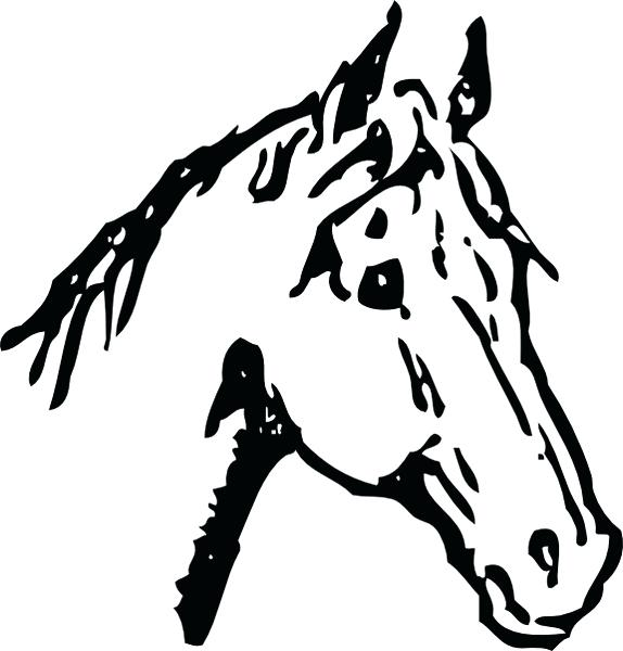 574x600 Free Horse Images Clip Art Horse Head Clip Art Free Vector In Open