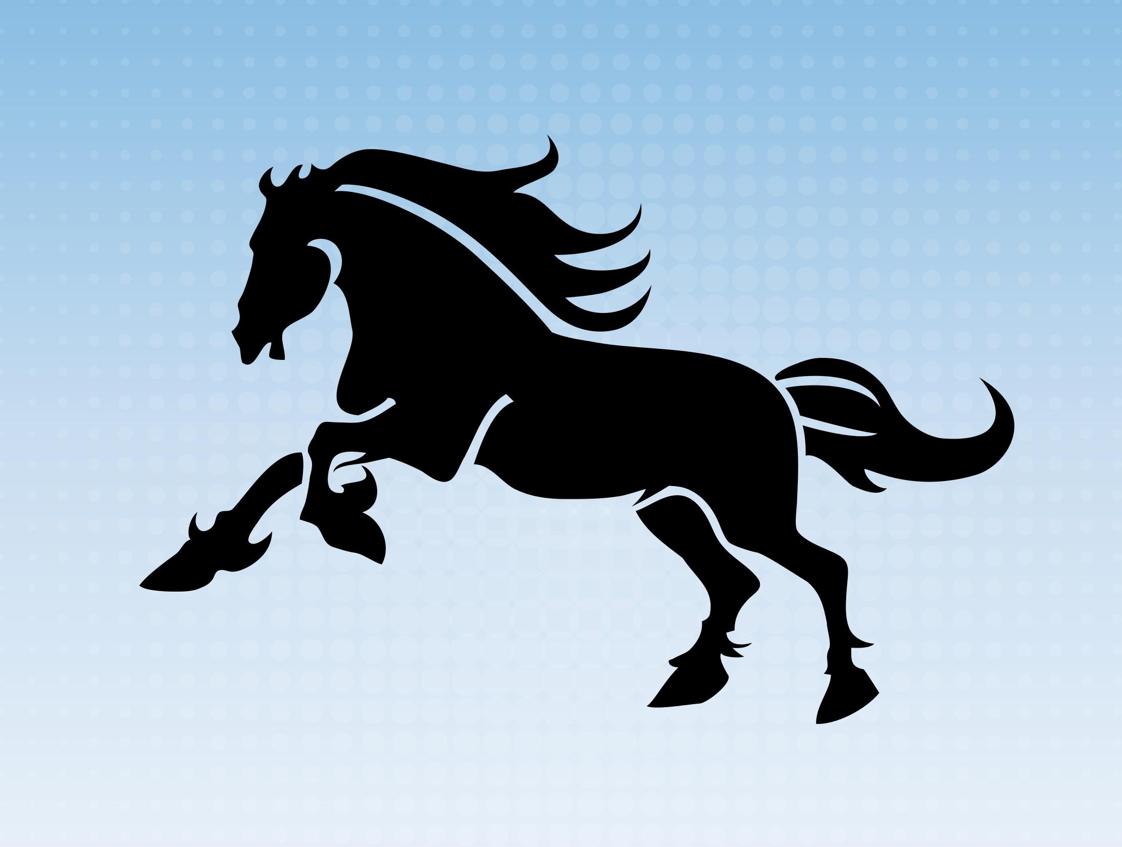 2222x1678 Mustang Horse Vector