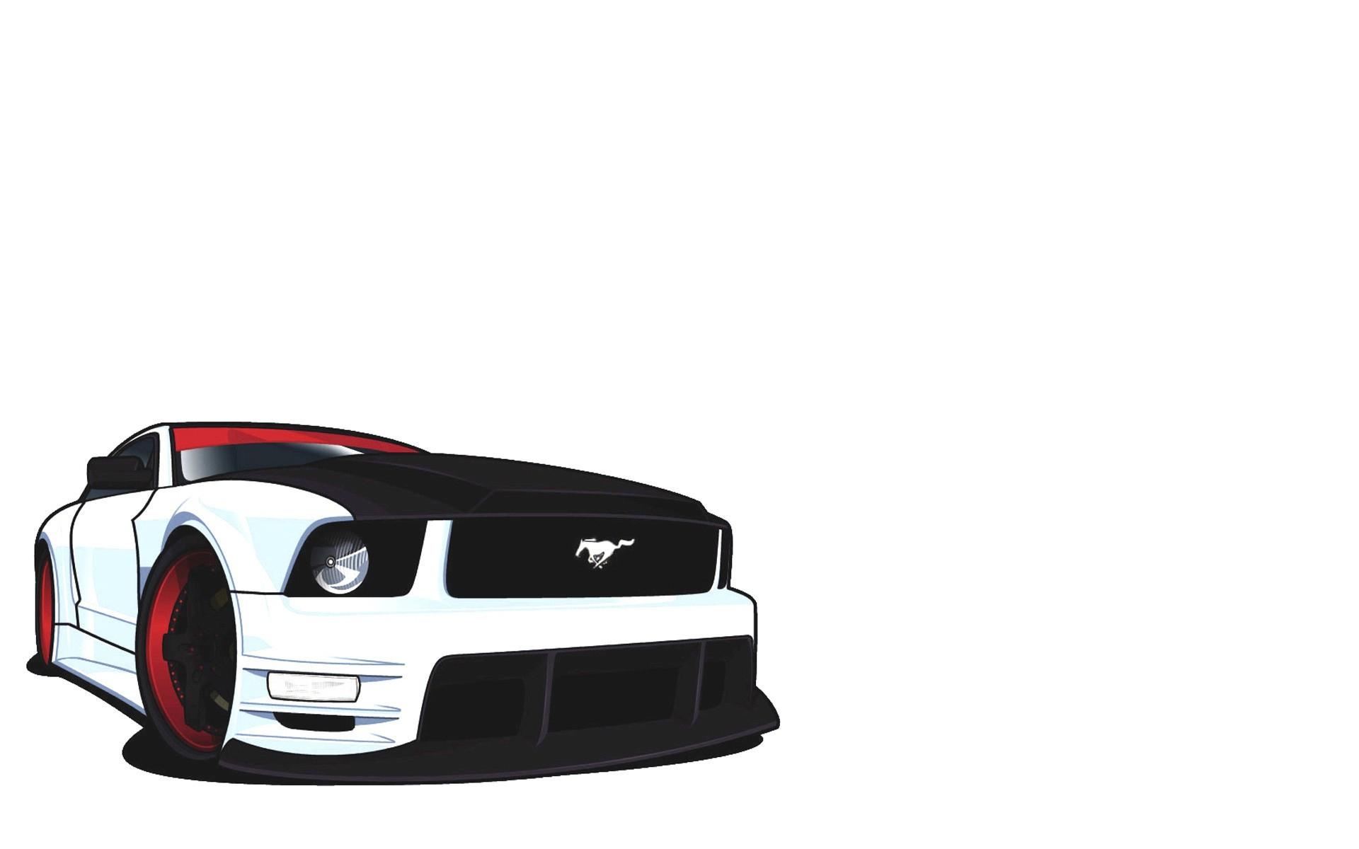 1920x1200 Download The Mustang Vector Wallpaper, Mustang Vector Iphone