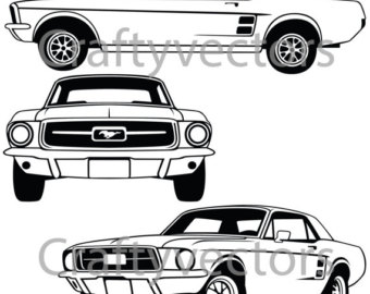 340x270 Ford Mustang Logos Vector Etsy