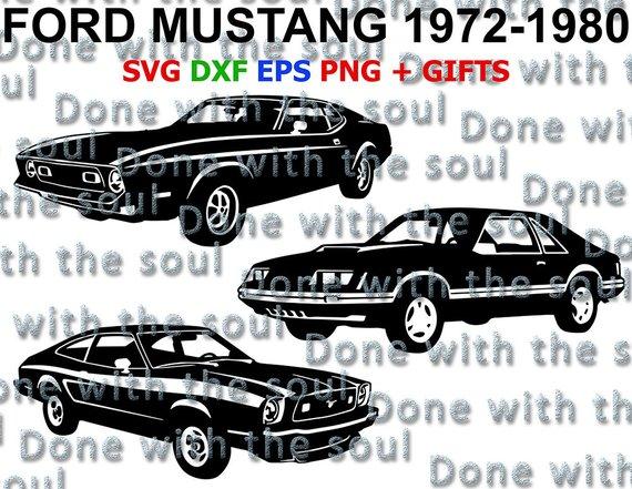 570x441 Ford Mustang Mustang Vector Ford Mustang Vector Svg Etsy