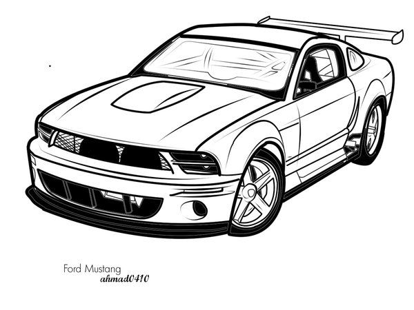600x450 Ford Mustang Vector Art By Ahmad0410
