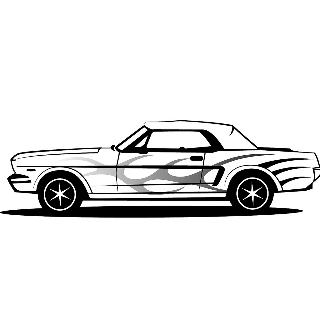 1024x1024 Ford Mustang Vector Illustration If You Want To Use This