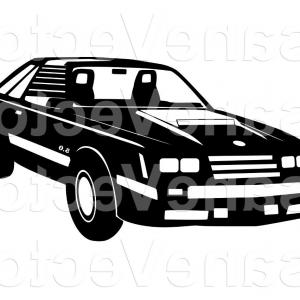 300x300 Ford Mustang Vector Silhouette Clip Arenawp