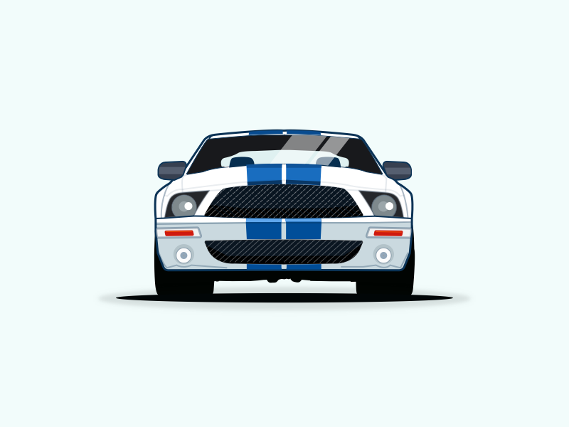 800x600 Ford Mustang Vector Illustration By Pramod Kabadi