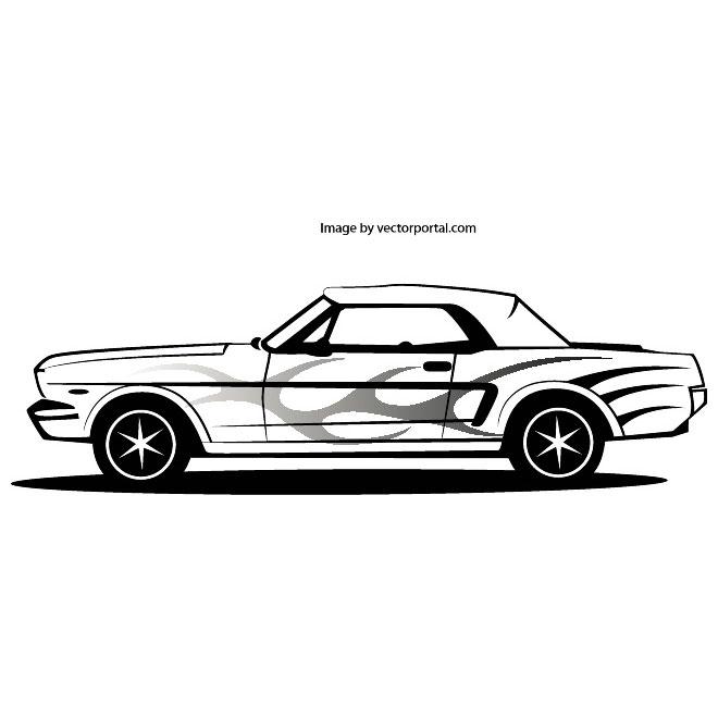 660x660 Mustang Car Vector