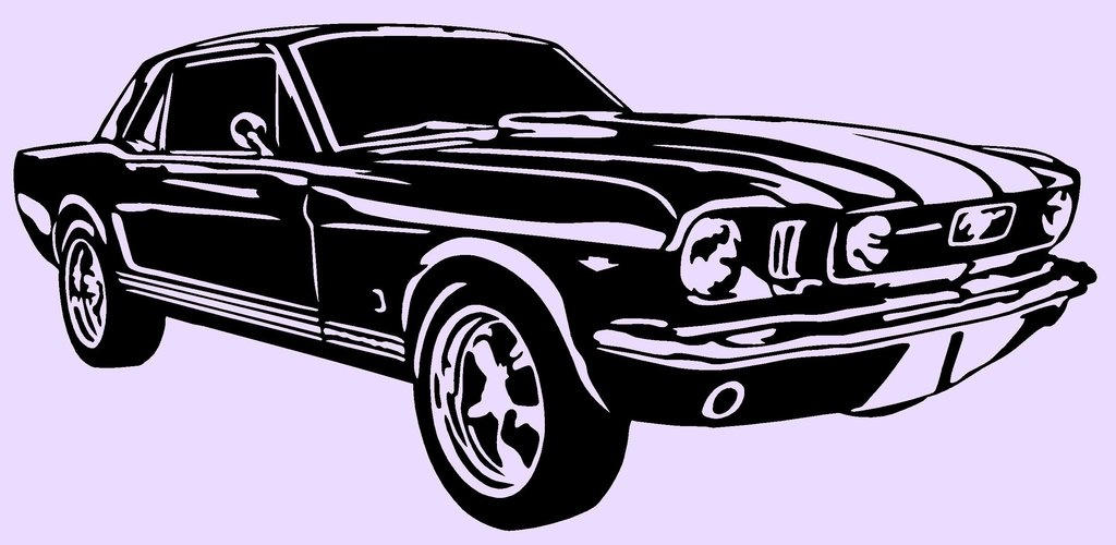 1024x500 Mustang Vector Shot On Cars