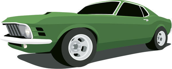 600x243 Vector 1970 Ford Mustang