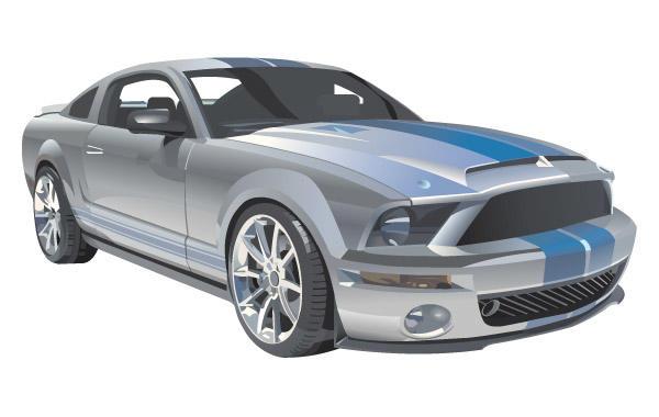 600x380 Vector Mustang