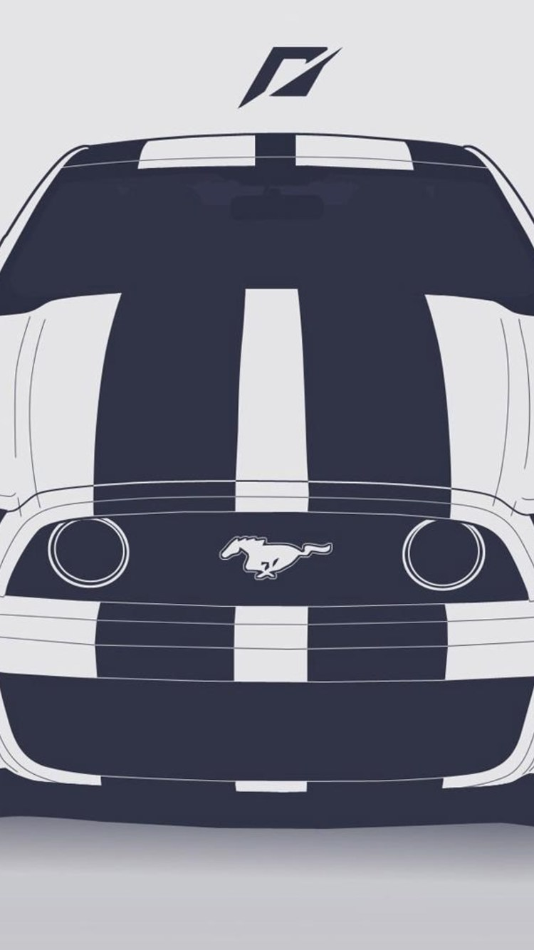 750x1334 750x1334 Ford Mustang Vector Iphone 6, Iphone 6s, Iphone 7 Hd 4k