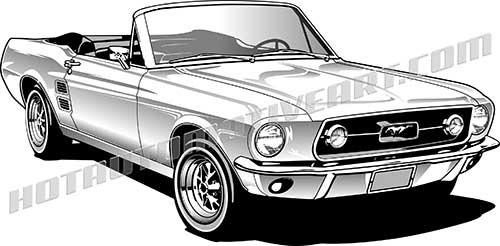 500x246 Classic Mustang Vector Shot On Cars