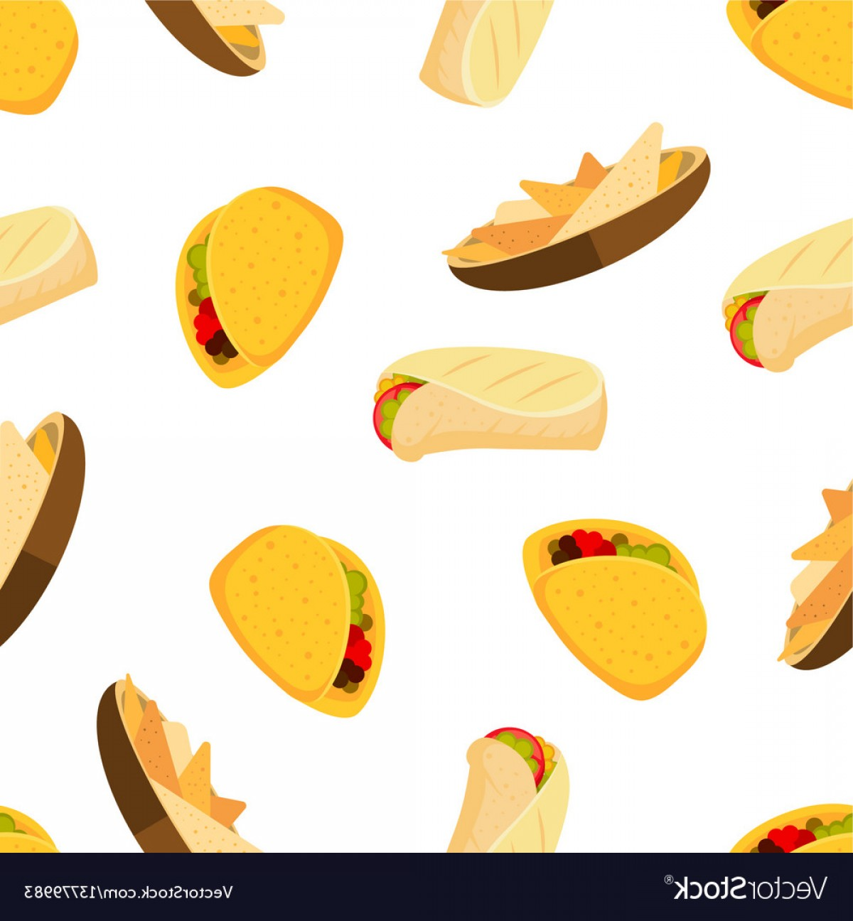 1200x1296 Mexican Food Tacos Burrito And Nachos Vector Geekchicpro
