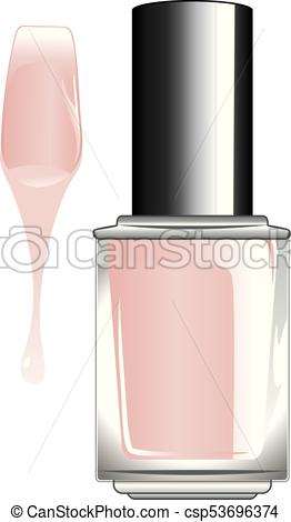 262x470 Nail Polish Bottle. Glossy Colorful Nail Polish, Lacquer In A