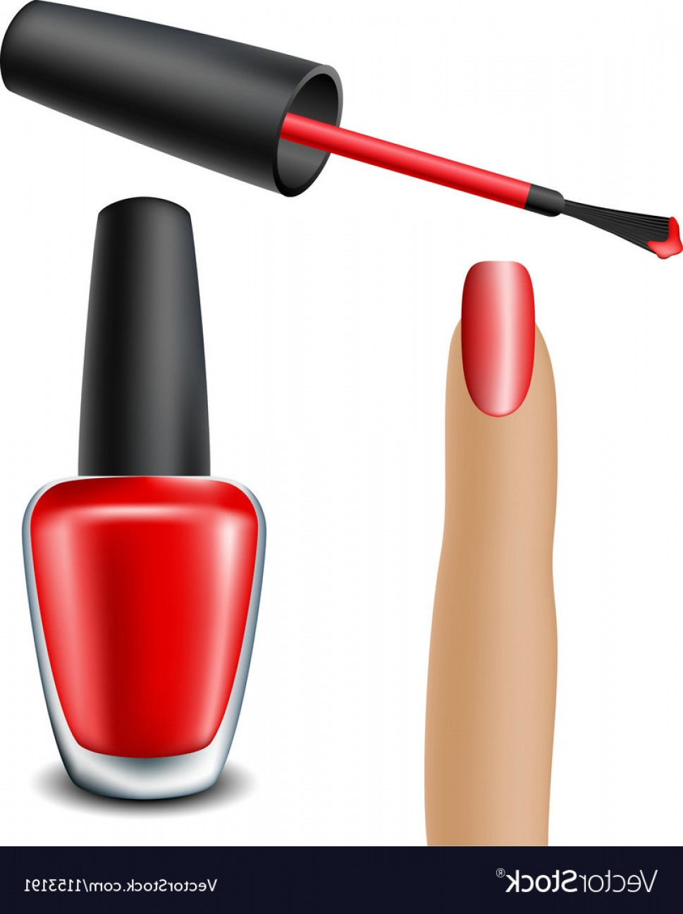969x1296 Red Nail Polish With Woman Finger Vector Arenawp