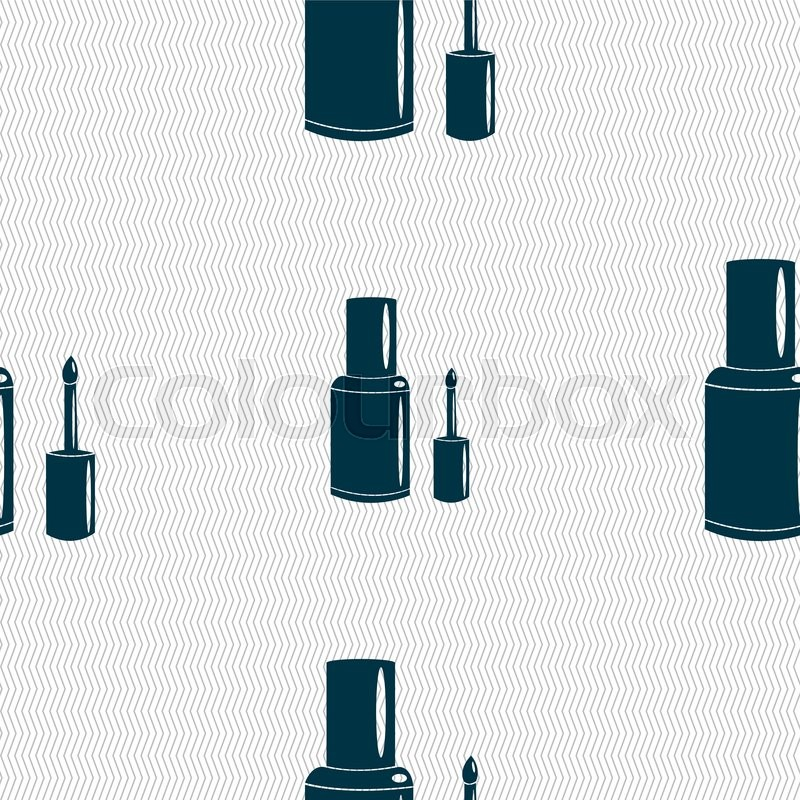800x800 Nail Polish Bottle Icon Sign. Seamless Pattern With Geometric
