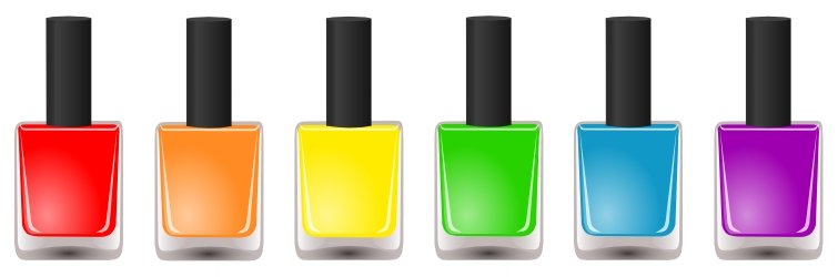 755x250 Free Download Vector Nail Polish Hession Hairdressing