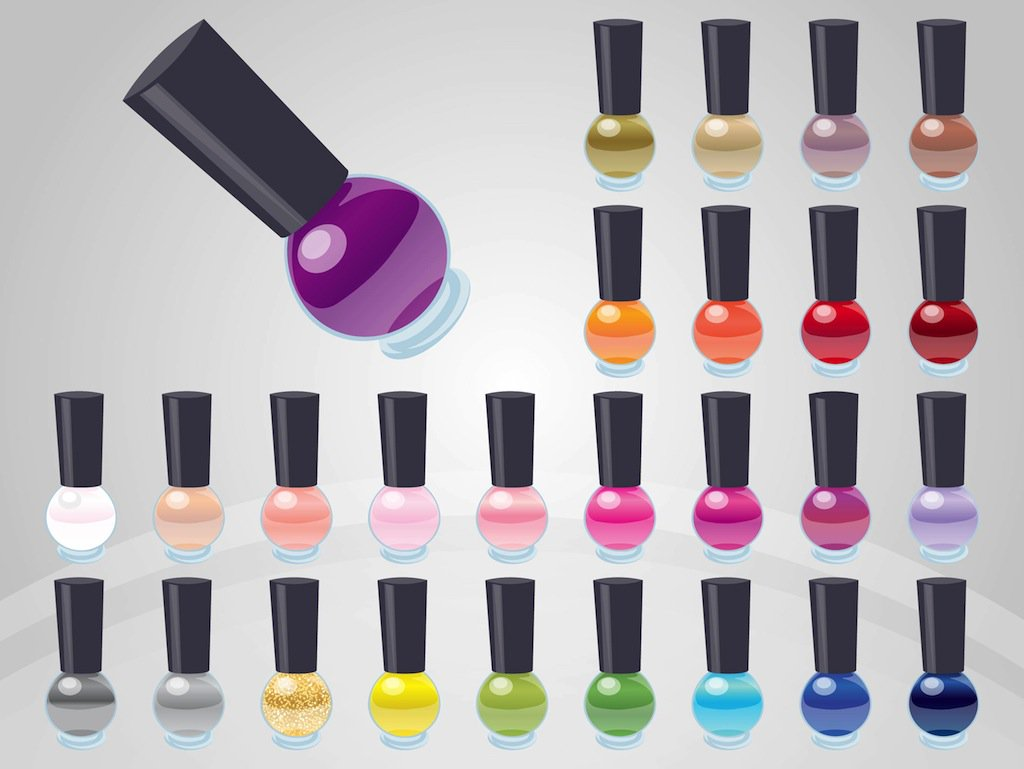 1024x769 Nail Polish Vectors Vector Art Amp Graphics