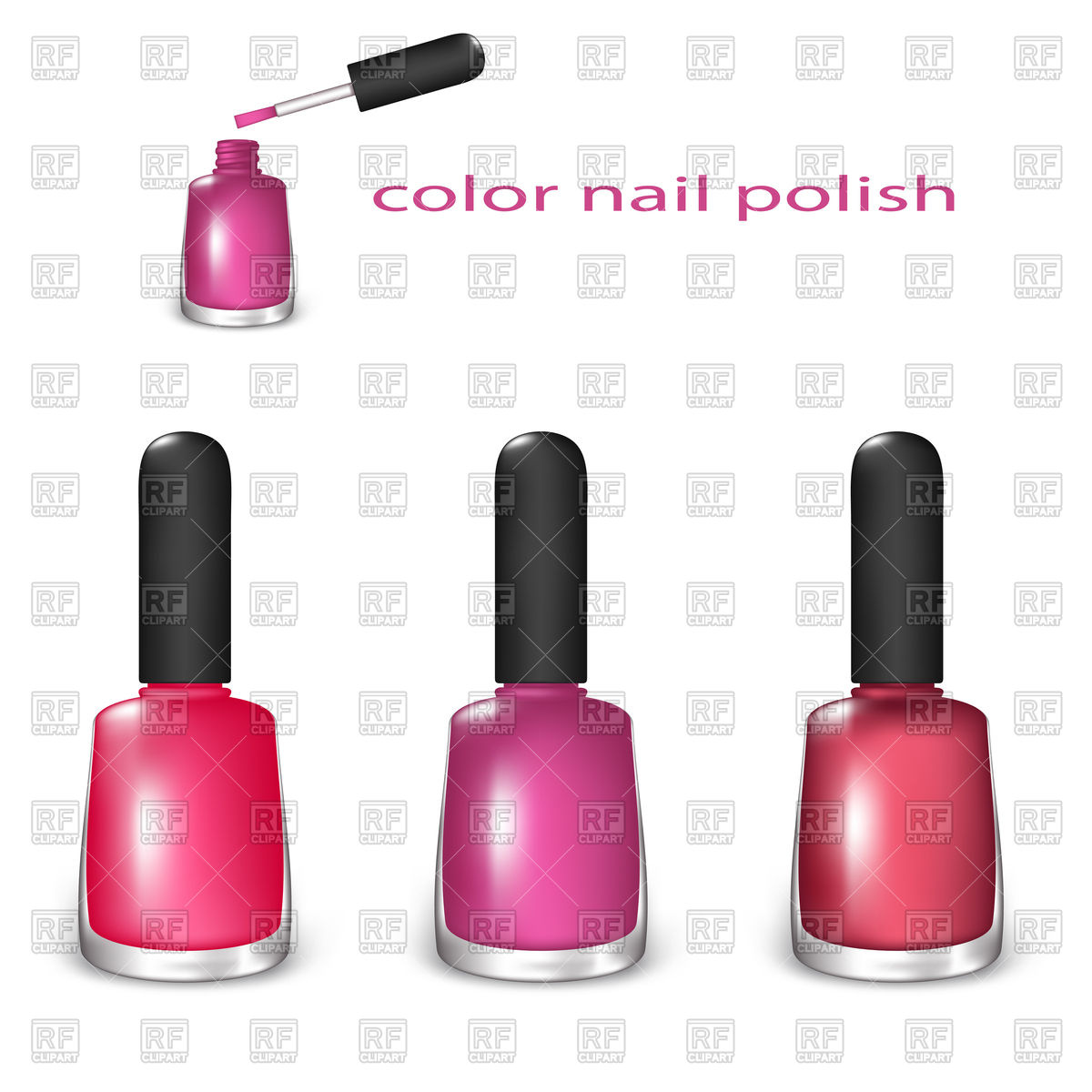 1200x1200 Set Of Nail Polish Vector Image Vector Artwork Of Beauty
