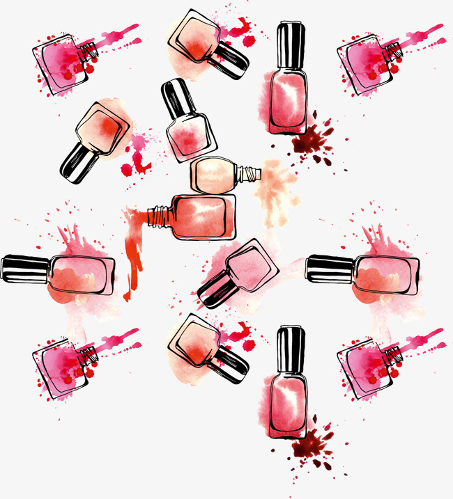 650x717 Vector Hand Colored Nail Polish, Vector, Hand Painted, Color Png