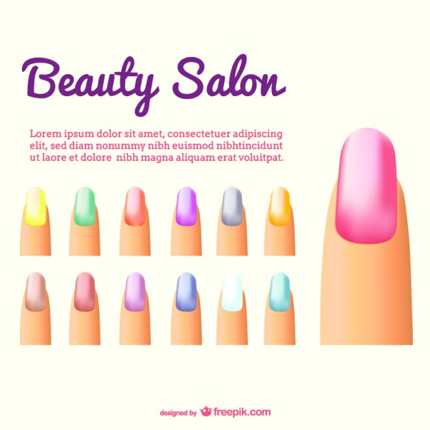 626x626 Nails Color Vector Vector Free Download