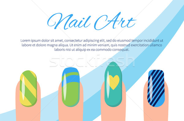 600x397 Set Of Color Patterns On Nails Vector Illustration Vector