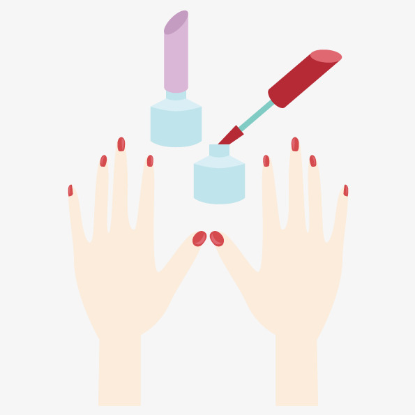 595x595 Vector Painted Nails, Vector, Nail, Hand Png And Vector For Free