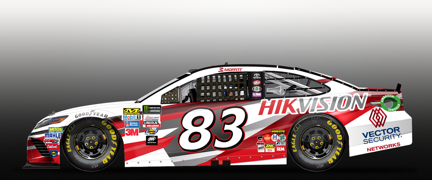 1500x625 Hikvision Co Sponsors Car For Nascar Cup Series Hikvision Canada