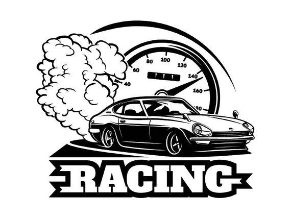570x429 Racing Logo 5 Racecar Equipment Auto Mechanic Repair Shop Etsy