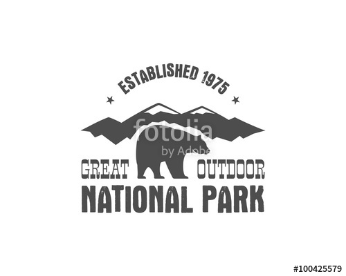 500x400 National Park Old Style Badge. Mountain Explorer Label. Outdoor