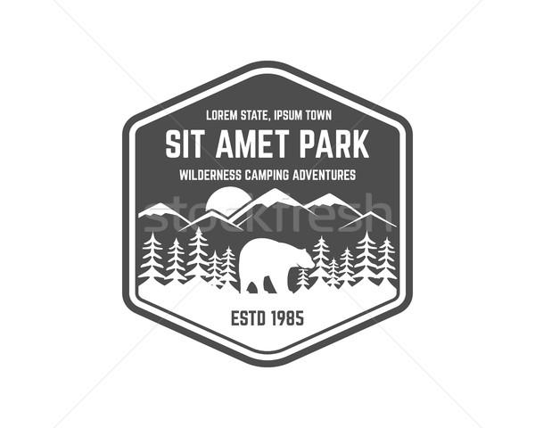 600x480 National Park Vintage Badge. Mountain Explorer Label. Outdoor