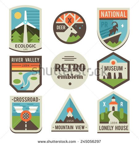 450x470 Vintage National Park Stickers