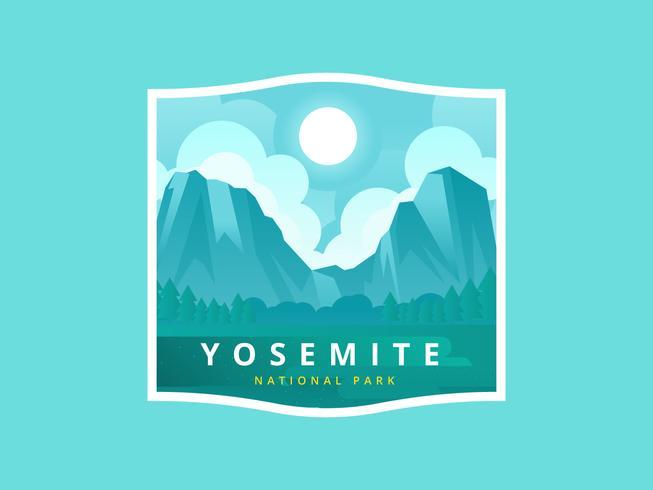 653x490 Yosemite National Park Vector Illustration