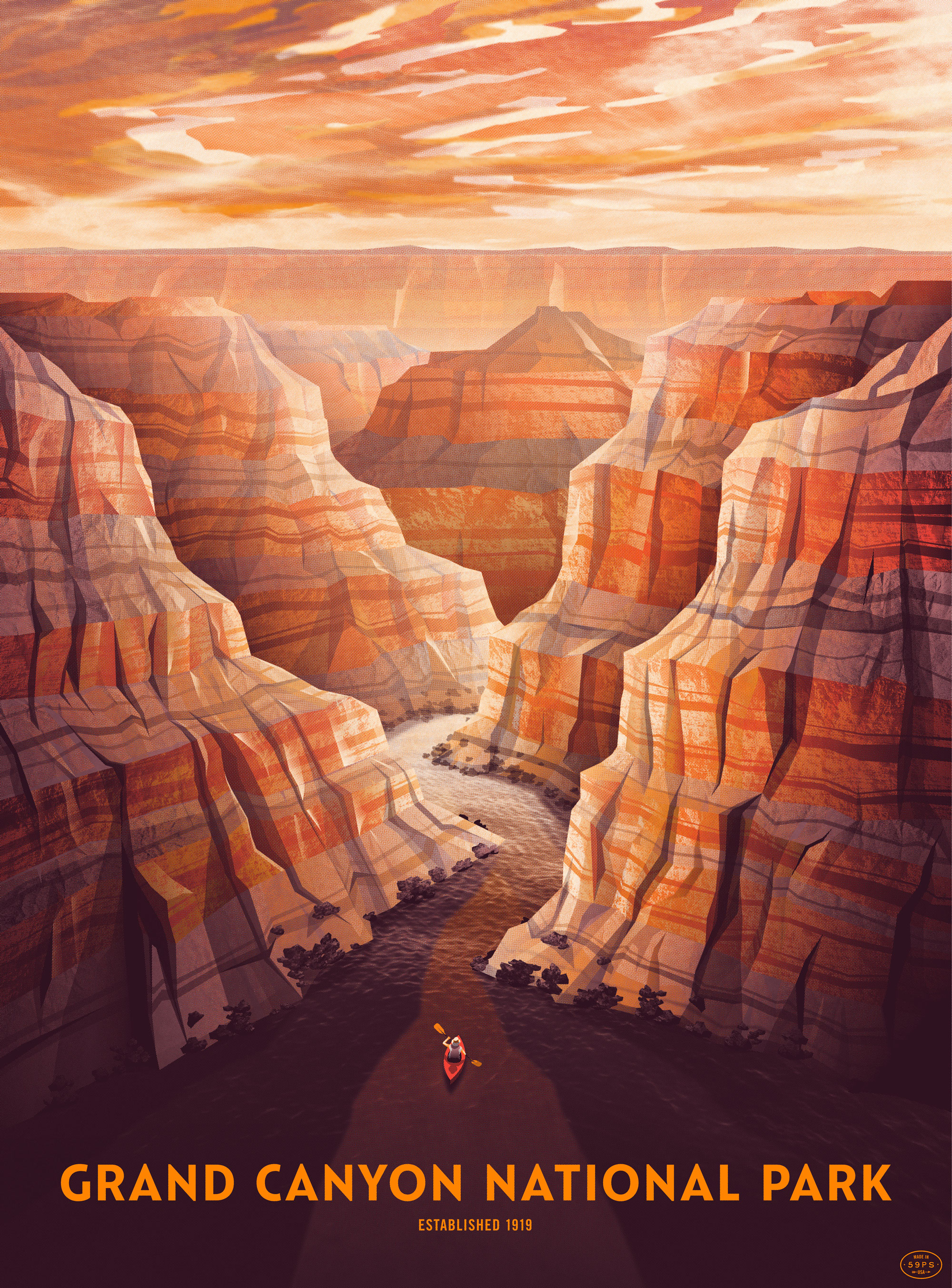 2000x2705 Grand Canyon National Park Poster Dkng