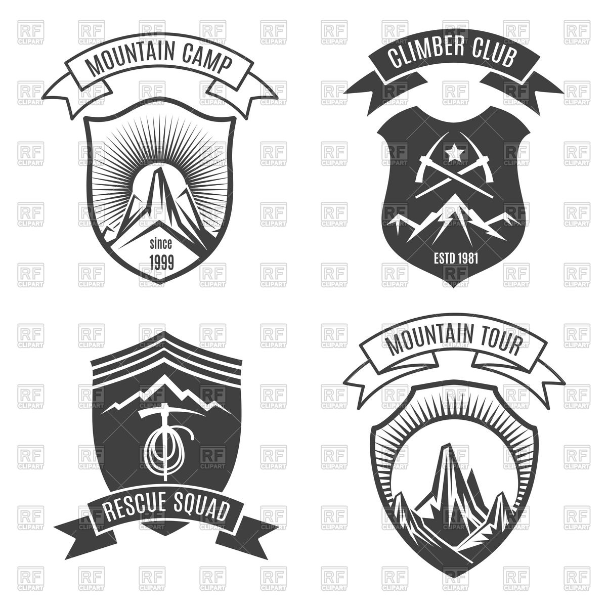 1200x1200 Mountains Retro Badges For National Parks Vector Image Vector