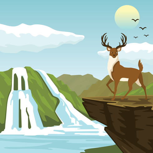 490x490 National Park Illustration