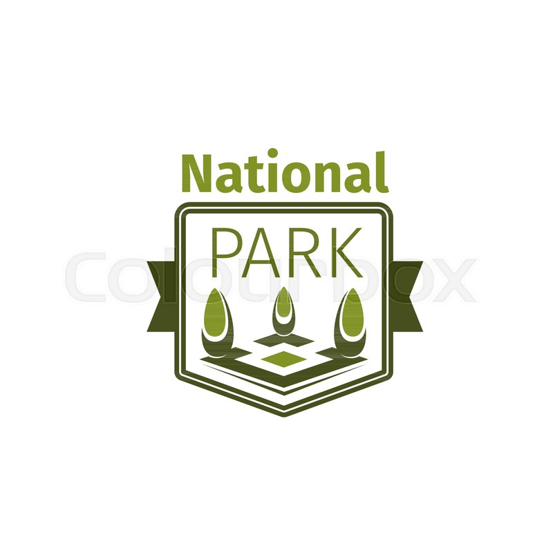 800x800 National Park Icon Template For Ecology Nature Square Or City
