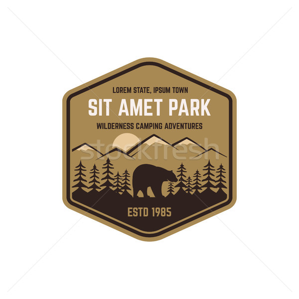 600x600 National Park Vintage Badge. Mountain Explorer Label. Outdoor