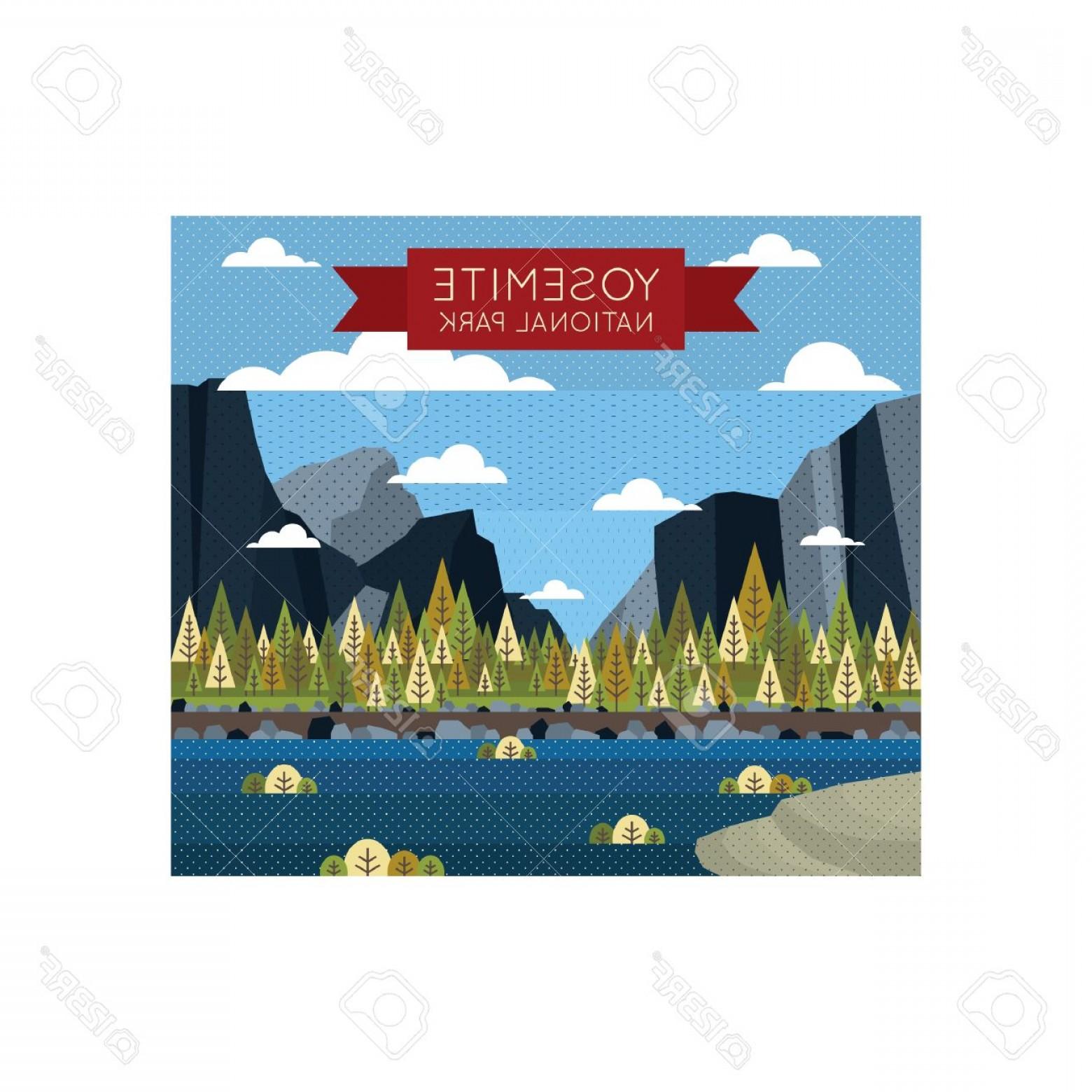 1560x1560 Photostock Vector Yosemite National Park Wallpaper Shopatcloth