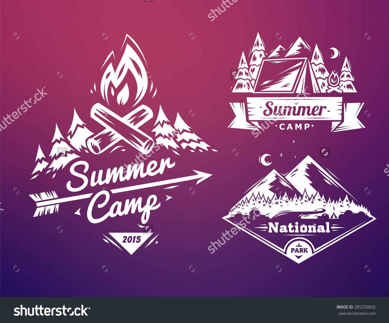 1500x1245 Vector Design Typography For Web Design Development. Summer Camp