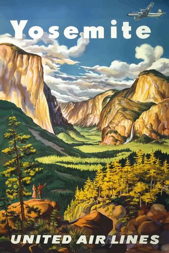 334x500 Yosemite National Park Public Domain Vectors
